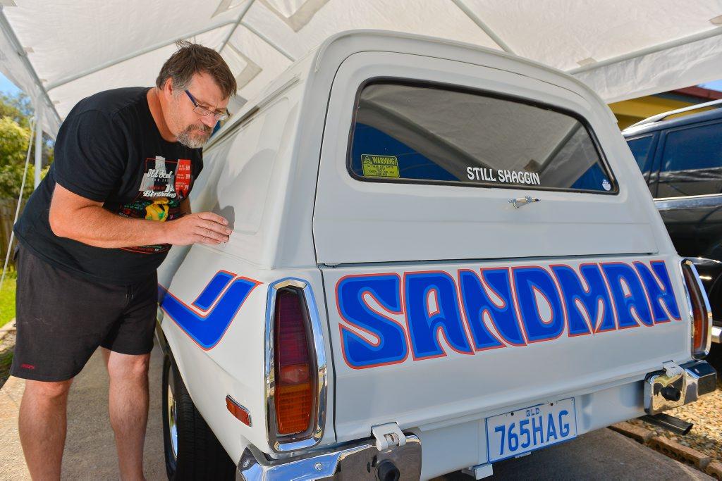 Austin Fox hall had cirrosive liquid poured over his belovered Sandman. Photo Mike Richards / The Observer