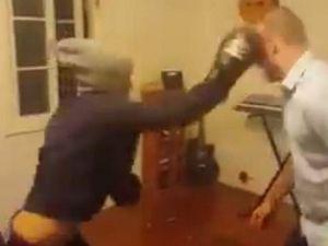 GRAPHIC: Man bites rat's head