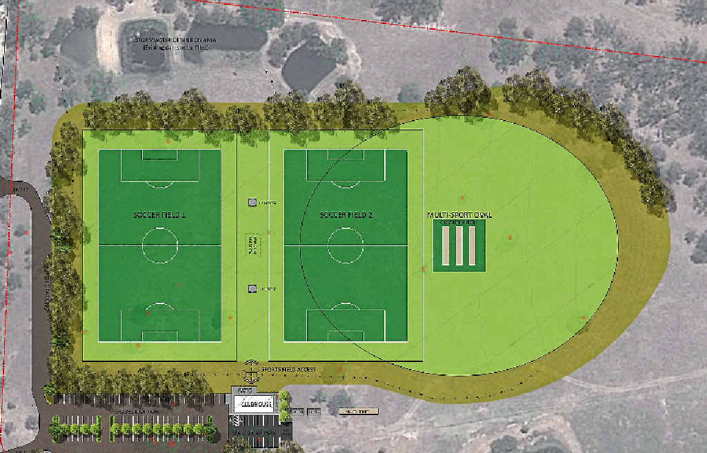 A layout of the first stage of development of Liz Cunningham Park.