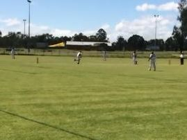 Davis Shield cricket action