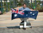 PROUD: Luke Hartsuyker is a proud supporter of Australia's flag.