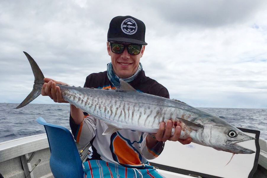 Ash Masters caught this Spanish Mackerel trolling off the Gold Coast. Photo Contributed