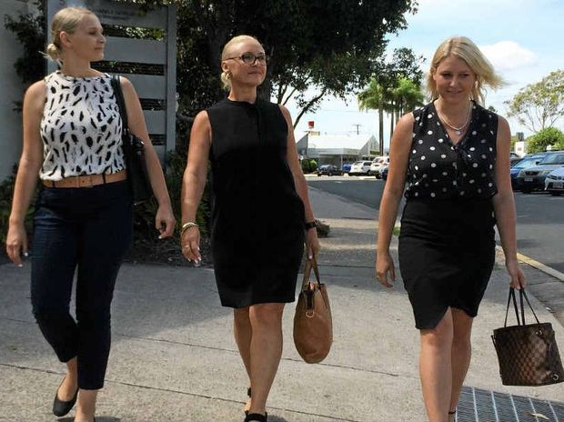 CLOSING A CHAPTER: Former Coast woman Ellie Cardell (left), her mother Samantha Johnson and her sister Erin Cardell leave Maroochydore Magistrates Court.