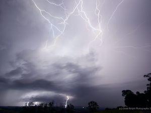Storm activity near Toowoomba
