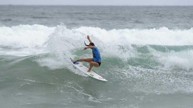 Former Le-Ba surfer Tyler Wright surfing for Culburra in the Australian Boardriders Battle