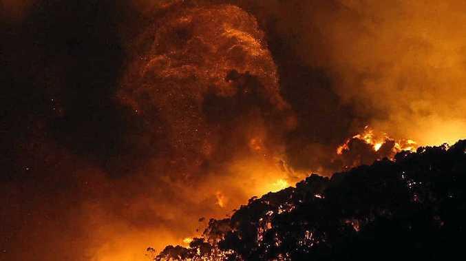 Hazard reduction burn in Deception Bay