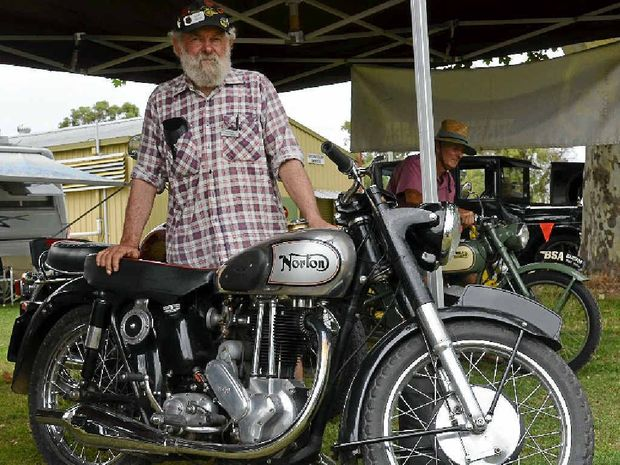 EASY RIDER: Warwick Vintage Motorcycle Club chairman Gary Smith.