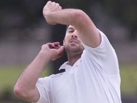 BOWLING 'EM OVER: Metropolitan-Easts allrounder Peter Reimers. Photo Nev Madsen / The Chronicle