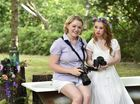 Highfields photographer, April Hildred has a photo shoot with model, Madeline Stuart who has Down Syndrome.