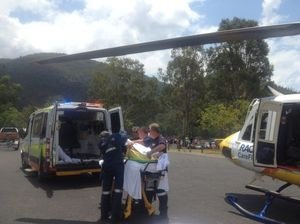 Woman towed by tube on dam suffers spinal injuries
