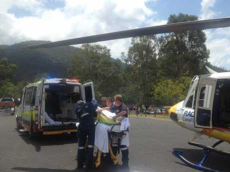 The RACQ CareFlight Toowoomba rescue helicopter was tasked to Somerset Dam just before midday yesterday.