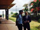 Police District Superintendent Darryl Johnson and Mayor Mark Jamieson.
