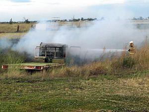 Clark Tanks registered vehicle found alight in dam