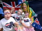 OI, OI, OI: Lily, Imogen and Charli Sell and their nan Pauline Muscat will be celebrating Australia Day at the Botanic Gardens with heaps of fun activities for the kids and face painting by Frivolous Faces.