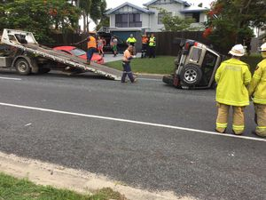 4WD overturned in two-vehicle crash at Andergrove