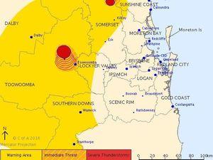 Hail, heavy rain smashes parts of Toowoomba region