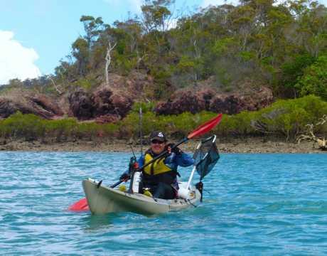 Scott Brodie says Airlie Beach is a great yakking destination,