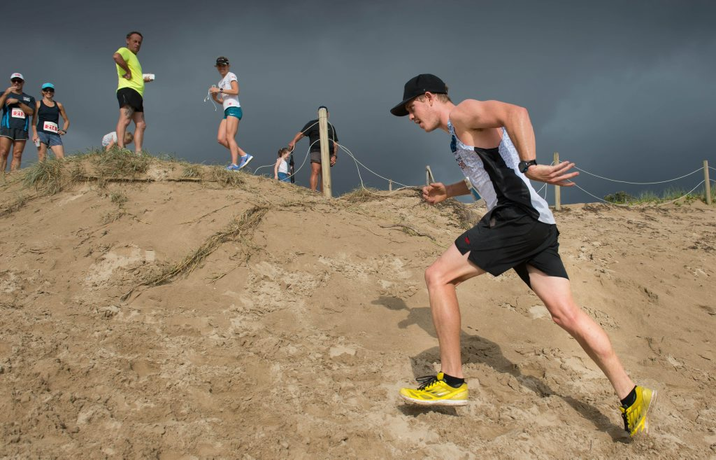 Australia day fun at Coffs Harbour Surf club.Winner of 10 k run Richard Pearson in a time of 34.48 mins.26 January 2016 Photo Trevor Veale/Coffs Coast Advocate