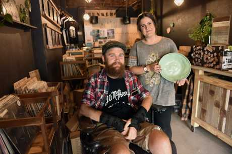 Business owners, Dan Graf of Beard Boutique and ceramic designer Peta Berghofer are the first two businesses to join Bunker Records Black Market project.