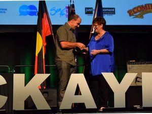 Mayor Deirdre Comerford at Australia Day Awards night