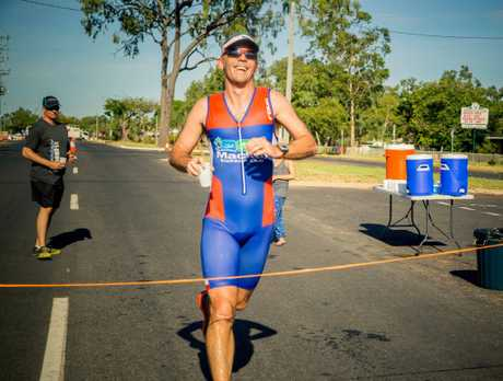 Open Men's winner James Leonard crossing the line in just over 1 hour, six minutes. Photo: Contributed