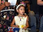 Enjoying the celebrayion is 5 year old Sylvia Beitz. Nestle Australia Day Celebrations 2016. Citizenship Ceremony, Community Australia Day Adwards. January 26, 2016.Photo Patrick Woods / Gympie Times