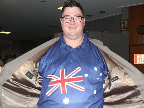 Member for Dawson George Christensen showing his national pride on Australia Day.