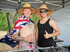 POINT PARTY: Jai Volker and Joe Skelhorn with DJ decks at Canoe Point yesterday celebrating Australia day.