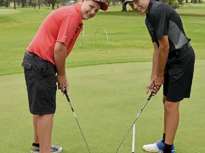 Golfers enjoy a day on the green for Australia Day