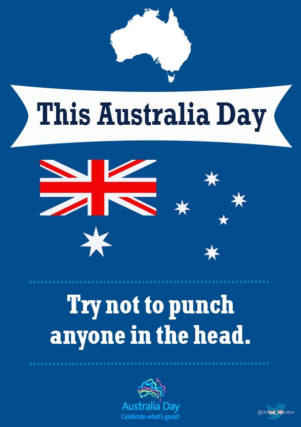 Let's try not to punch people in the head. Or anywhere else.