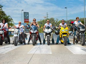 Coffs biker babes are revved to roll record
