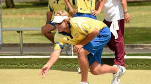 SHaun Dwyer, of South Lismore, competes in the Northern Rivers No 1 penants at the South Lismore Bowling Club. Photo Marc Stapelberg / The Northern Star