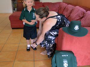 Olivia goes to school - Jan 2016