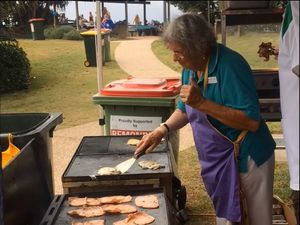 Australia Day breakfast at Coolum