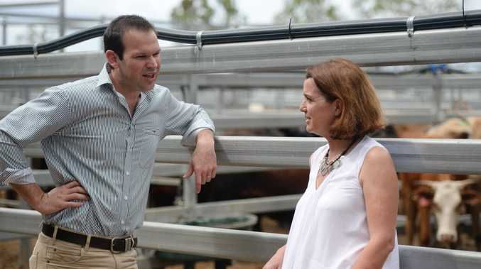 Matt Canavan (left) says removing net-free zones will create jobs and Assistant minister for Agriculture and Water, Anne Ruston .