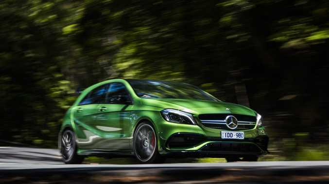 WEAPON: Refreshed Merc-AMG A45 hits 100kmh in just 4.2-seconds, is loaded with extra equipment to justify the price rise and proves a formidable track toy