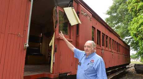 Ron Stephens retired volunteer for the Valley Rattler .Photo Renee Albrecht/Gympie Times