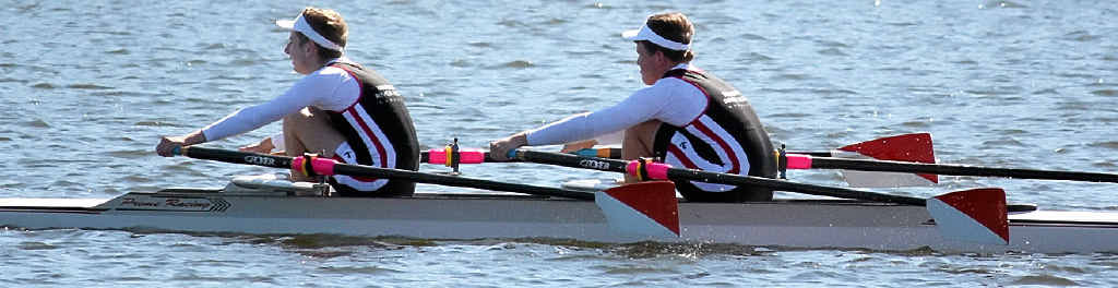 HEAVE: Maroochy River Rowing Club members competing in a regatta.