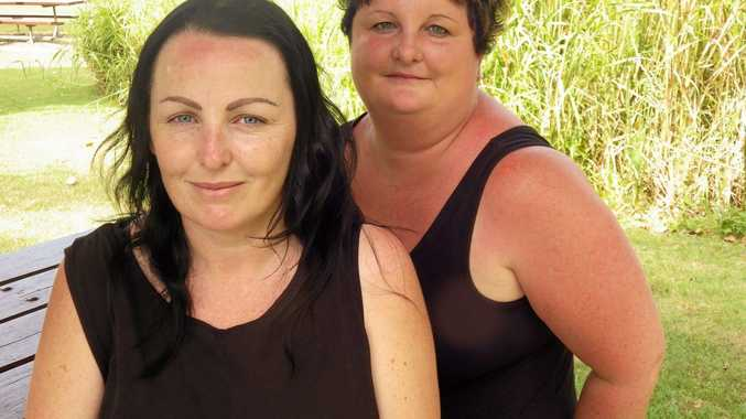 Kirsty O'Reilly with family friend Cherie Chapman who is crowdfunding for the family after a house fire last week.