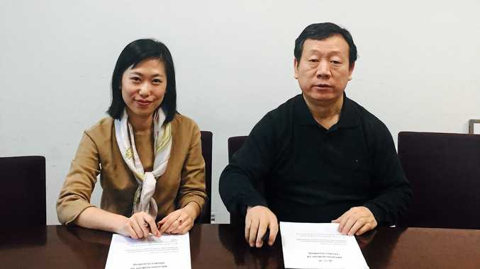 BIG YEAR: TSBE's Business Development Manager (China) Wen Liu, and CAPIAC's Secretary General Yutian Zhao following the signing of the official MOU for TSBE's new presence in Beijing.