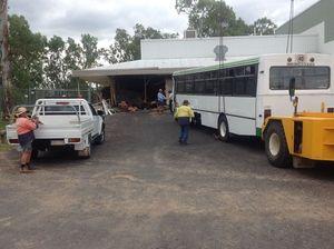 Bus crash causes extensive damage to cultural centre
