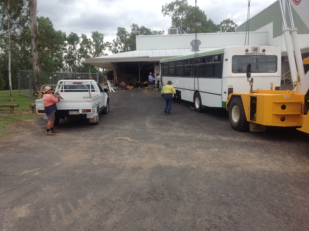 A bus that crashed into the Goondiwindi Cultural Centre has caused up to $400,000 in damage.