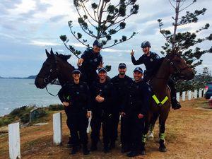 Mounted police visit Capricorn Coast during celebrations