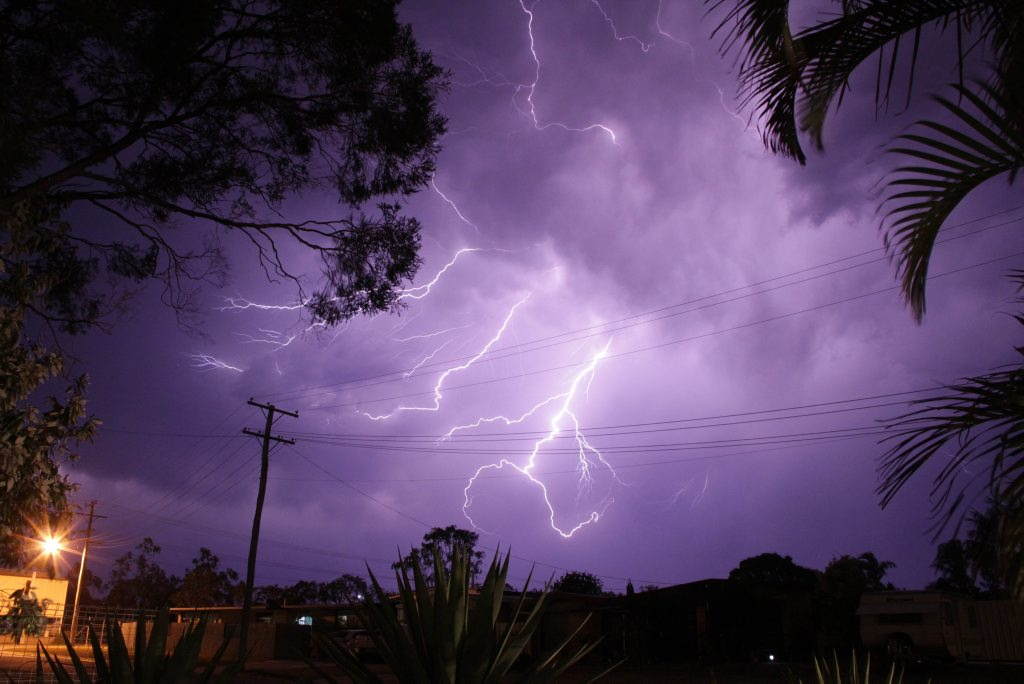 A lightning strike has caused major disruption to train services on the Sunshine Coast.