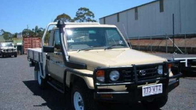 The ute stolen from a Drayton used truck business.