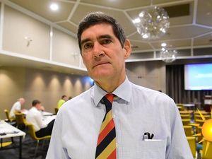 MP Peter Wellington talks at Subcontractors meeting in Nambour