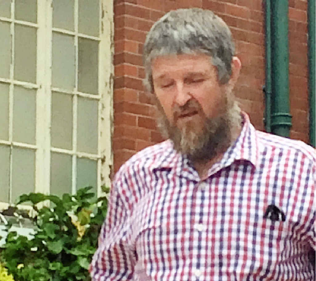 FISHERMAN'S GREED: Boyne Island fisherman Ray Miller leaves Gladstone Courthouse.