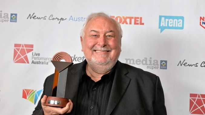 OUTSPOKEN: Bluesfest supremo Peter Noble with the 2014 Helpmann Award.