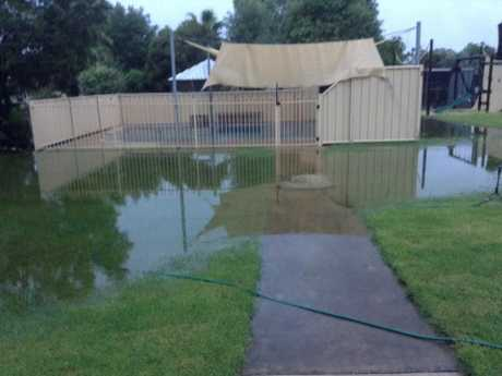 There are unconfirmed reports up to 200mm of rain fell in Mitchell in 24 hours.
