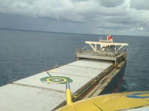 Man, 47, airlifted from bulk carrier to hospital